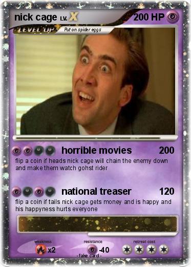 Pokémon nick cage 1 1 - horrible movies - My Pokemon Card   373 x 521 jpeg 40kB