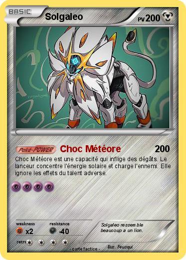 Pok mon solgaleo 35 35 choc m t ore ma carte pok mon - Carte pokemon gratuite ...