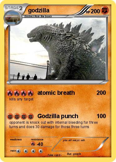 Pokémon godzilla 2174 2174 - atomic breath - My Pokemon Card