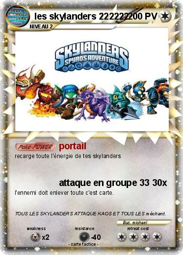 Pok mon les skylanders 222222 222222 portail ma carte pok mon - Tous les skylanders ...