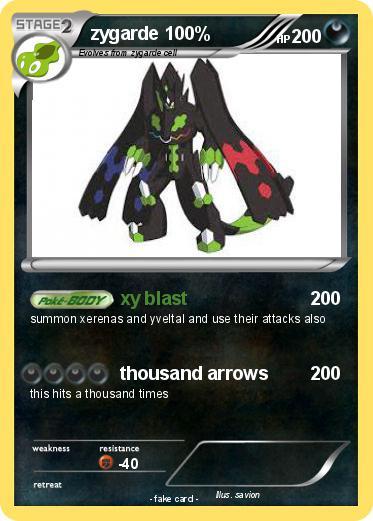 pokémon zygarde 100 9 9 xy blast my pokemon card
