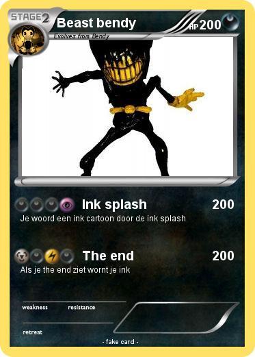 Pok 233 Mon Beast Bendy 10 10 Ink Splash My Pokemon Card