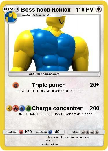Coloriage En Ligne Roblox.Pokemon Boss Noob Roblox Triple Punch Ma Carte Pokemon