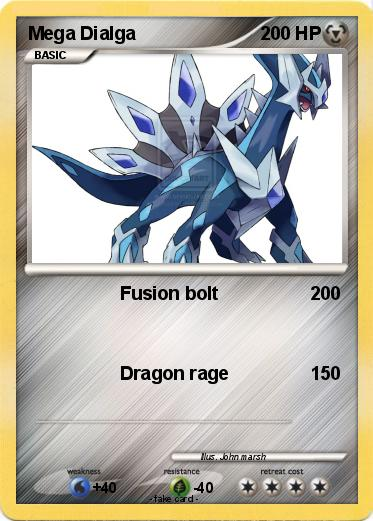 Pokémon Mega Dialga 20 20 - Fusion bolt - My Pokemon Card