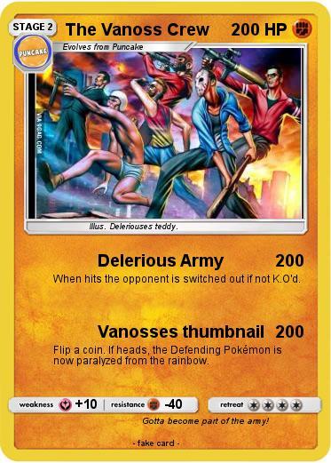 pokémon the vanoss crew delerious army my pokemon card