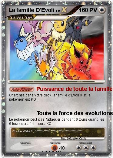 Pok mon la famille d evoli 3 3 puissance de toute la - Famille evoli pokemon ...