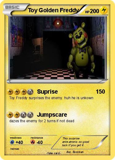 Pokemon Toy Golden Freddy