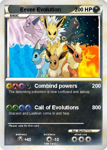 Pok 233 Mon Eevee Evolution Combind Powers 200 My Pokemon Card