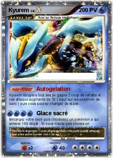 Pok mon kyurem 871 871 autogelation ma carte pok mon - Pokemon legendaire blanc 2 ...