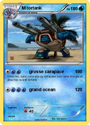 Pok mon m tortank 9 9 grosse carapace ma carte pok mon - Pokemon tortank mega evolution ...