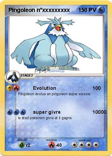 Pok mon pingoleon noxxxxxxxxx evolution 100 ma carte pok mon - Pokemon pingoleon ...