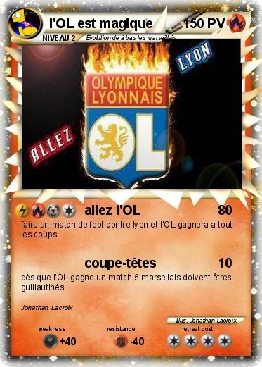 Coloriage De Foot Lyon.Pokemon L Ol Est Magique Allez L Ol Ma Carte Pokemon