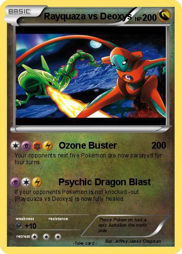 pokémon rayquaza vs deoxys 6 6 ozone buster my pokemon card