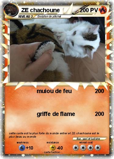 Pok mon ze chachoune muiou de feu ma carte pok mon - La plus forte carte pokemon du monde ...