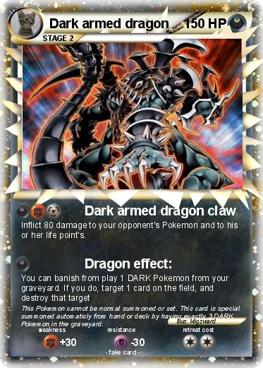 Pok mon dark armed dragon dark armed dragon claw my pokemon card - Carte pokemon dragon ...