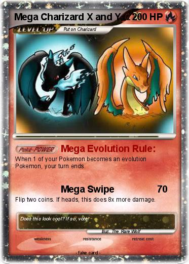 Pok 233 Mon Mega Charizard X And Y 6 6 Mega Evolution Rule