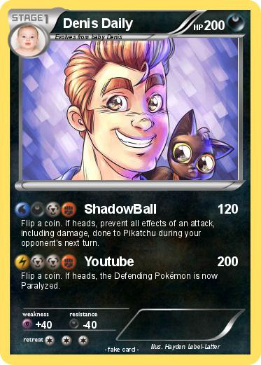 Pok 233 Mon Denis Daily Shadowball My Pokemon Card