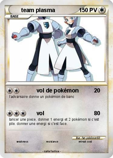 Pok mon team plasma 21 21 vol de pok mon ma carte pok mon - Carte pokemon team plasma ...
