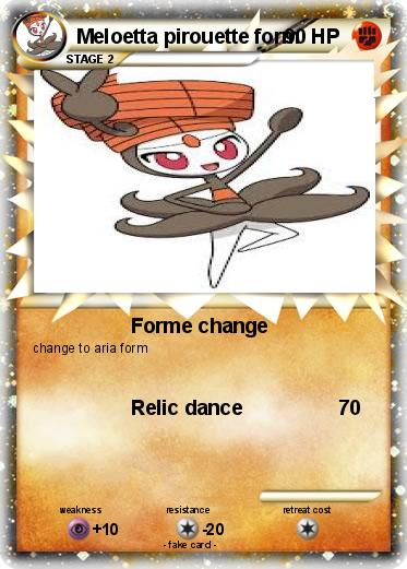 Pokémon Meloetta pirouette form - Forme change - My Pokemon Card