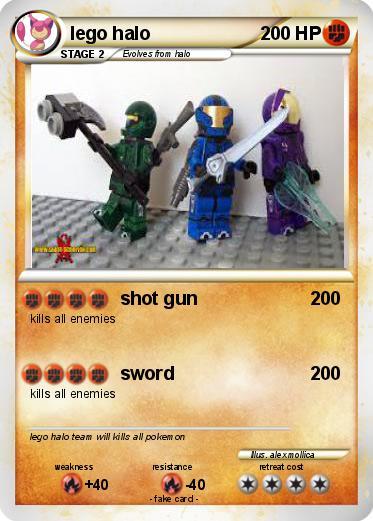 pokémon lego halo 7 7 shot gun my pokemon card