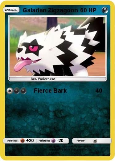 Pokémon Galarian Zigzagoon 2 2 - Fierce Bark - My Pokemon Card