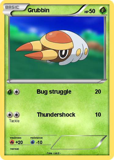Pokémon Grubbin 7 7 Bug Struggle My Pokemon Card