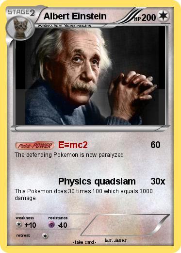 Pokémon Albert Einstein 64 64 - E=mc2 - My Pokemon Card