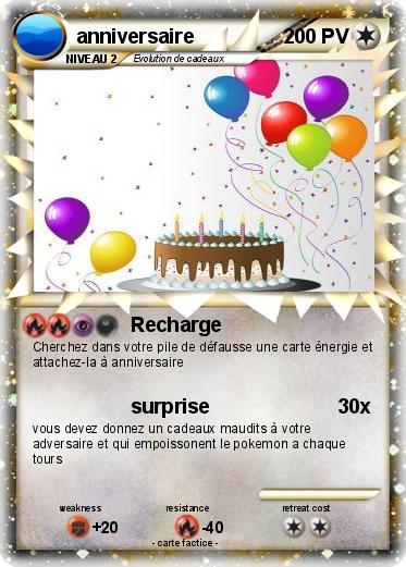 Bien-aimé Pokémon anniversaire 23 23 - Recharge - Ma carte Pokémon YA09