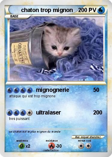 Pokémon chaton trop mignon 8 8 - mignognerie - Ma carte Pokémon