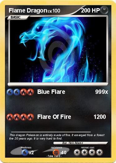 pok233mon flame dragon 44 44 blue flare 999x my pokemon card