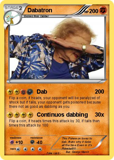 Pokémon Dabatron Dab My Pokemon Card