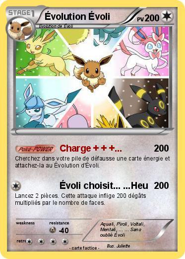 Pok mon evolution evoli 7 7 charge ma carte - Pokemon noir 2 evoli ...