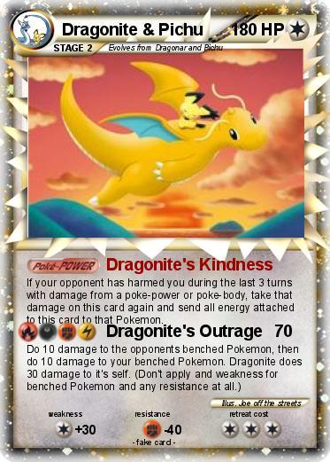 Pok 233 Mon Dragonite Pichu 1 1 Dragonite S Kindness My