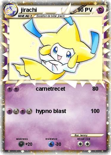 Pok mon jirachi 258 258 carnetrecet ma carte pok mon - Carte pokemon jirachi ...