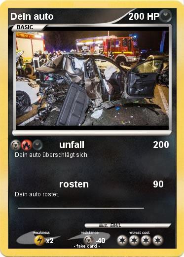 Pokémon Dein auto - unfall - My Pokemon Card