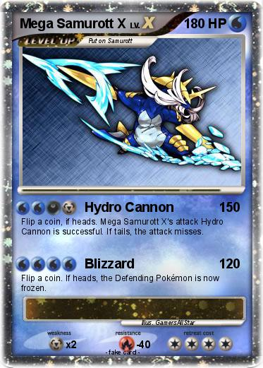 Pokémon Mega Samurott X - Hydro Cannon - My Pokemon Card