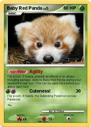 Pokemon Baby Red Panda Agility My Pokemon Card