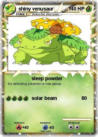 Shiny venusaur card