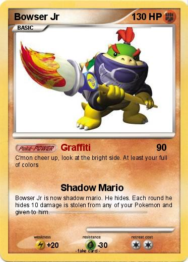 Pok 233 Mon Bowser Jr 674 674 Graffiti My Pokemon Card