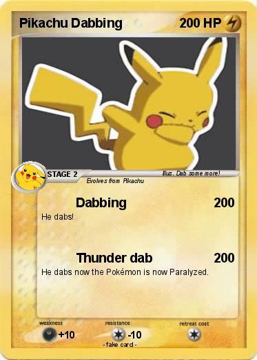 pokémon pikachu dabbing dabbing my pokemon card