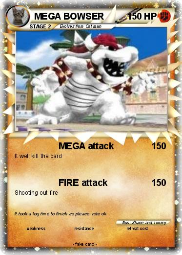 pok233mon mega bowser 48 48 mega attack my pokemon card