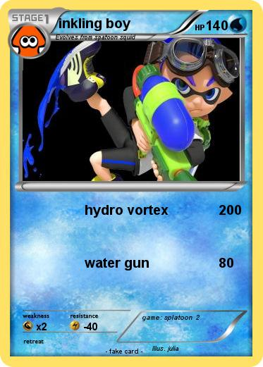 Pokemon Inkling Boy 23 23 Hydro Vortex My Pokemon Card