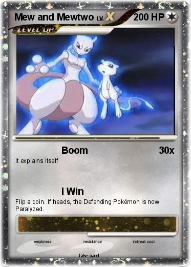 Pok 233 Mon Mew And Mewtwo 42 42 Boom My Pokemon Card
