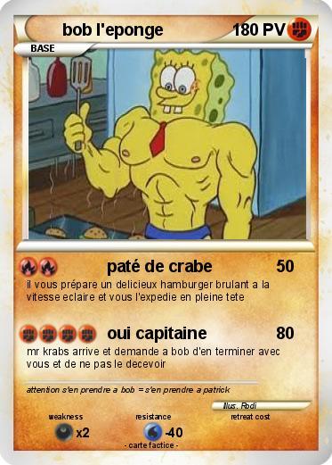 Pokémon Bob L Eponge 178 178 Paté De Crabe Ma Carte Pokémon