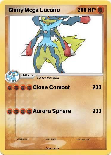 Pokémon Shiny Mega Lucario 2 2 - Close Combat - My Pokemon ...  Shiny Zoroark Card