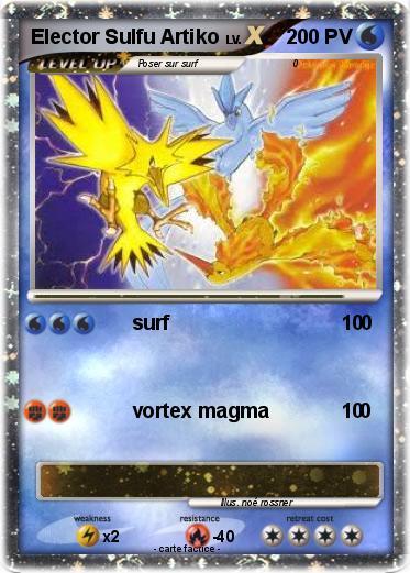 Pok mon elector sulfu artiko surf 0 ma carte pok mon - Elector pokemon x ...