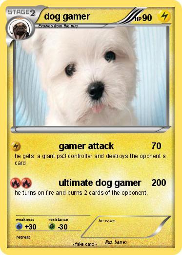 pokémon dog gamer 1 1 gamer attack my pokemon card