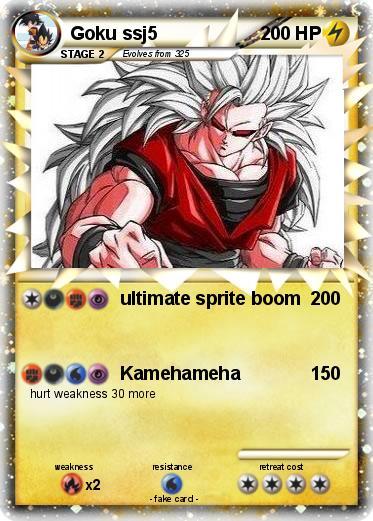 pokémon goku ssj5 44 44 ultimate sprite boom my pokemon card