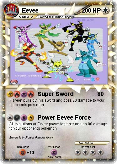 Pok 233 Mon Eevee 243 243 Super Sword My Pokemon Card