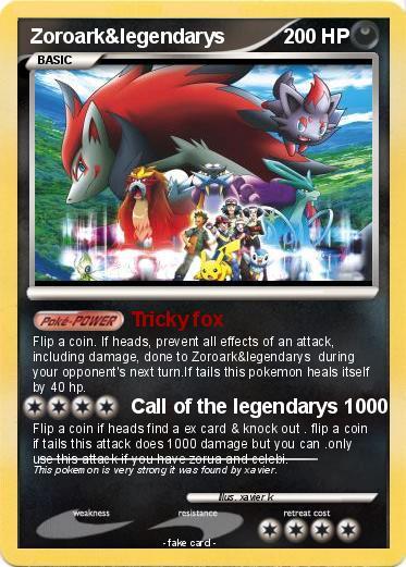 Zoroark Pokemon Card 1000 Damage Pokémon Zoroark l...